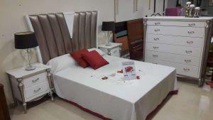 Dormitorio pino lacado blanco