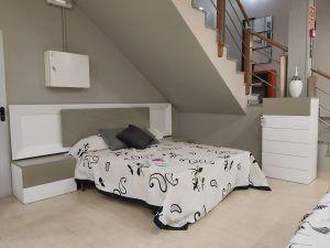 dormitorio lacado blanco/visón