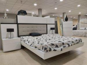 dormitorio lacado blanco mate y pizarra