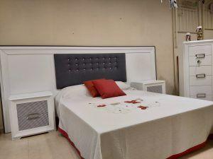 Dormitorio expo ocasión  lacado c/cabecero corrido